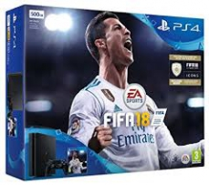 Sony PlayStation 4  500GB + FIFA 18 + PS Plus 14 дней