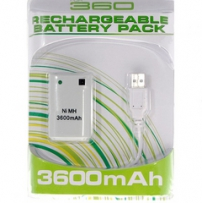 XBOX 360 Play & Carge Kit USB Белый (3600mAh)