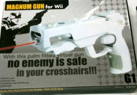Magnum GUN Controller with Red Laser Sight for Remote Wii (White)