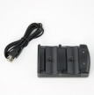 USB Charging Cradle/Dock for dual PS3 Remote Controls/Move Controls Black [PS3]