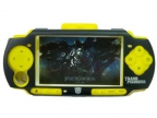 Чехол Силикон+Метал / Silicone Cover Red with Aluminum Case Yellow Transformers for PSP Slim 2000/3000